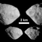 Fliegende Schutthalde in Diamantform: Bilder des Asteroiden Steins, aufgenommen mit dem Kamerasystem OSIRIS an Bord der Raumsonde Rosetta.