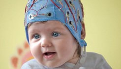 Using electroencephalography (EEG), babies' brain responses to spoken language were recorded.