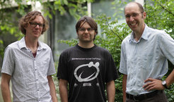 Proud winning trio: Research Group Leader Frank Schnorrer, Esben Lorentzen and Andreas Pichlmaier (left to right) of the Max Planck Institute of Biochemistry.