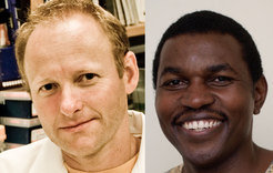 The two group leaders of the new Max Planck research groups in Durban: Alex Sigal (left) and Thumbi Ndung'u (right).