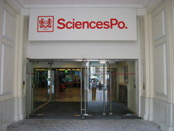 The entrance of Sciences Po in Paris where the new Max Planck Sciences Po Center openend its doors on October 1, 2012.