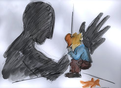 Abused children often suffer from trauma throughout their adult lives. Patients that were exposed to trauma in early childhood can express their anxieties through drawings.