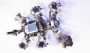 Ein autonome Laufroboter kann durch Chaos-Kontrolle verschiedene Gangarten flexibel nutzen
