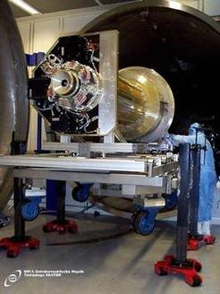 """Test des Röntgendetektors für ABRIXAS in der Panter-Testanlage des Max-Planck-Instituts für extraterrestrische Physik. Für das NASA """"Dark Univers"""
