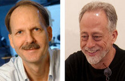 An evolutionary biologist and a psychologist share the Max Planck Research Prize this year: Timothy George Bromage (left) and Michael Tomasello (right).