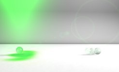 Nanoparticles with a spin: A photonic wheel (indicated by the green spot on the white background) causes a nanoparticle in an optical trap to rotate around itself in the direction in which the light is propagating. As soon as the optical trap is opened, the particle's rotational motion causes it to hurtle away.