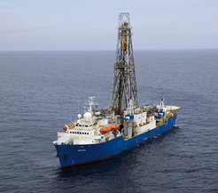 The international drilling vessel JOIDES Resolution.