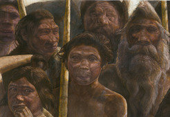 The Sima de los Huesos hominins lived approximately 400,000 years ago during the Middle Pleistocene.