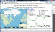 An interactive world map of human genetic history reveals likely genetic impacts of historical events.
