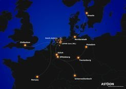<p>Network of radio antennas: the LOFAR Stations in Europe.<em> <br /></em></p>