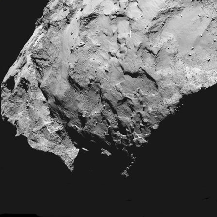 Landing on the head of the comet