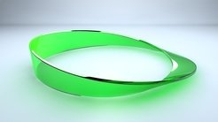 <p>Single-sided strip: A Möbius strip is twisted so that it has only one surface and one edge.</p> <p> </p>
