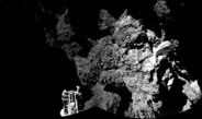The lander of the Rosetta mission is awake and sending back data from the surface of the comet 67P / Churyumov-Gerasimenko