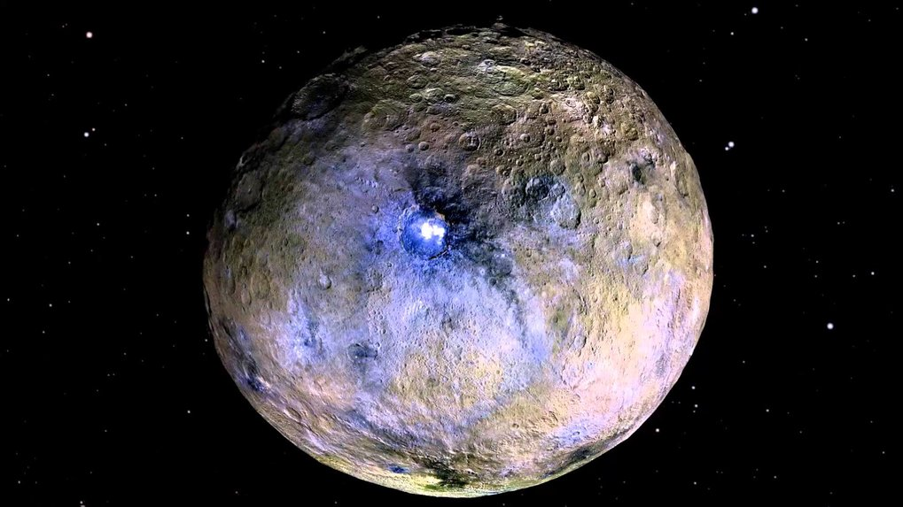 Full rotation of the dwarf planet Ceres in false colours